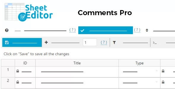 WP Sheet Editor Comments Pro