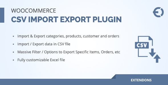Woocommerce csv import export plugin - orders customers products