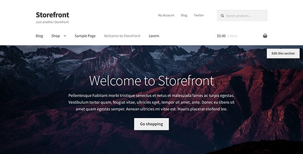 Storefront Official WooCommerce Theme