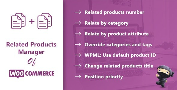 Related Products Manager for WooCommerce Pro