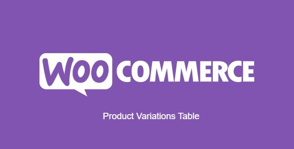 Product Variations Table for WooCommerce
