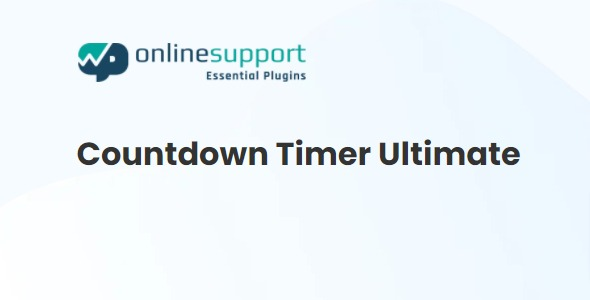 Countdown Timer Ultimate Pro - By WP OnlineSupport