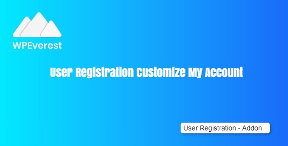 User Registration Customize My Account