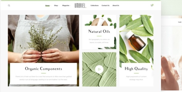 Umbriel - eCommerce theme for organic cosmetics and perfumes