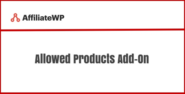AffiliateWP Allowed Products Add-On