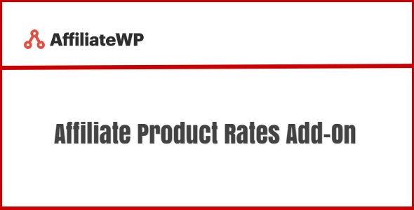 AffiliateWP Affiliate Product Rates Add-On