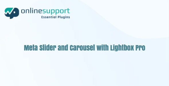 WP OnlineSupport Meta Slider and Carousel with Lightbox Pro
