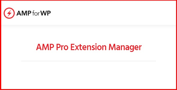 AMP Pro Extension Manager
