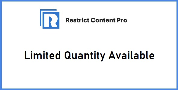 Restrict Content Pro Limited Quantity Available